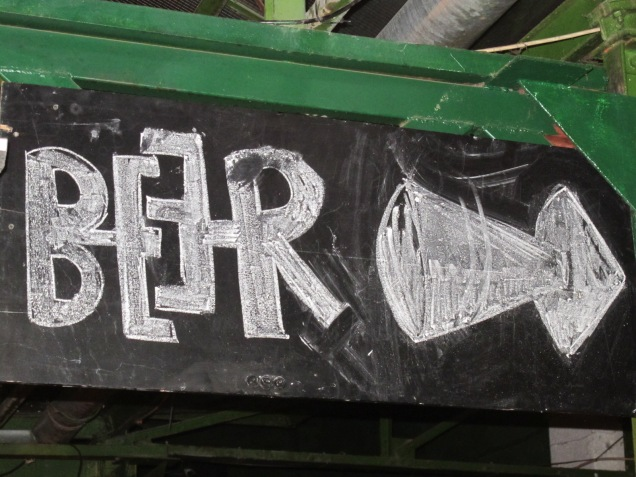 Sign for beer with their logo...creative
