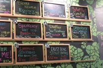 Some of the beers on draft when we visited