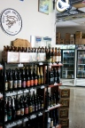 Looking into the bottle shop area