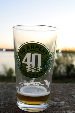 Free glass on the levee