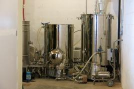 The nanobrewing set up
