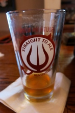 Straight To Ale glass out of AL - best known for Monkeynaut beer
